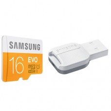 Samsung MicroSD card EVO series + USB2 Adapter, 16GB