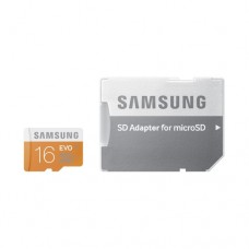 Samsung MicroSD card EVO series with Adapter, 16GB , Class10, UHS-1 Grade1