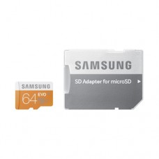 Samsung MicroSD card EVO series with Adapter, 64GB