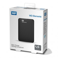 HDD 1,5TB USB 3.0 Elements Portable Black