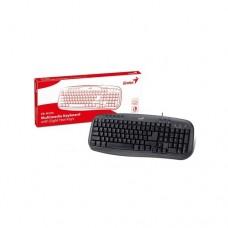 Клавиатура Genius KB-M200, Black - мултимедийна USB ; 8 функционални бутона
