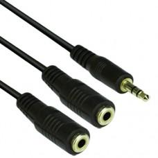 VCom Аудио Кабел 3.5mm Stereo M / 2x 3.5mm Stereo F - CV203-0.2m