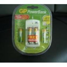 Акум.батерии 4 бр. AAA R03 NiMH ECO + подарък зарядно у-во PB310 GP
