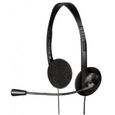 Слушалки с микрофон, HAMA HS-101, средни, черни