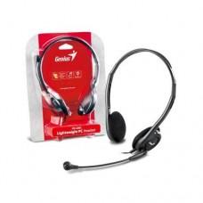 Genius HS-200C Black - ултралеки слушалки с микрофон с регулируема лента за глава