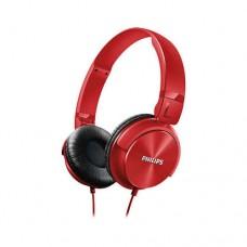 Philips слушалки с лента за глава, цвят червен